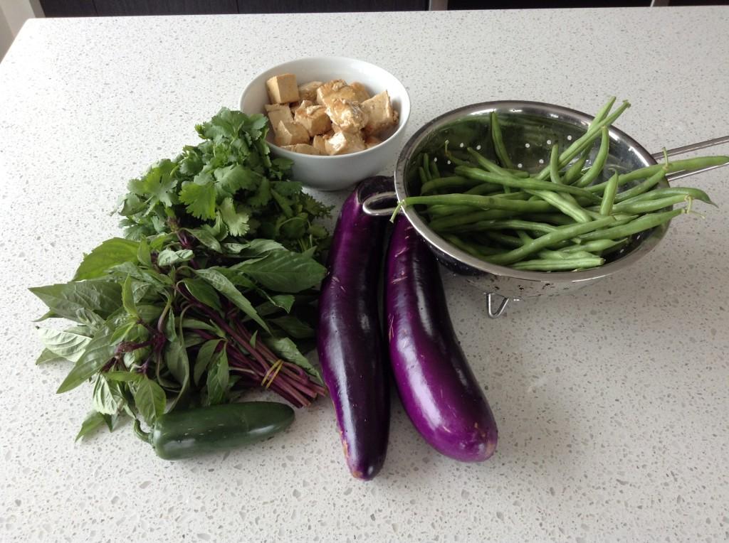 Eggplant Green Beans Basil