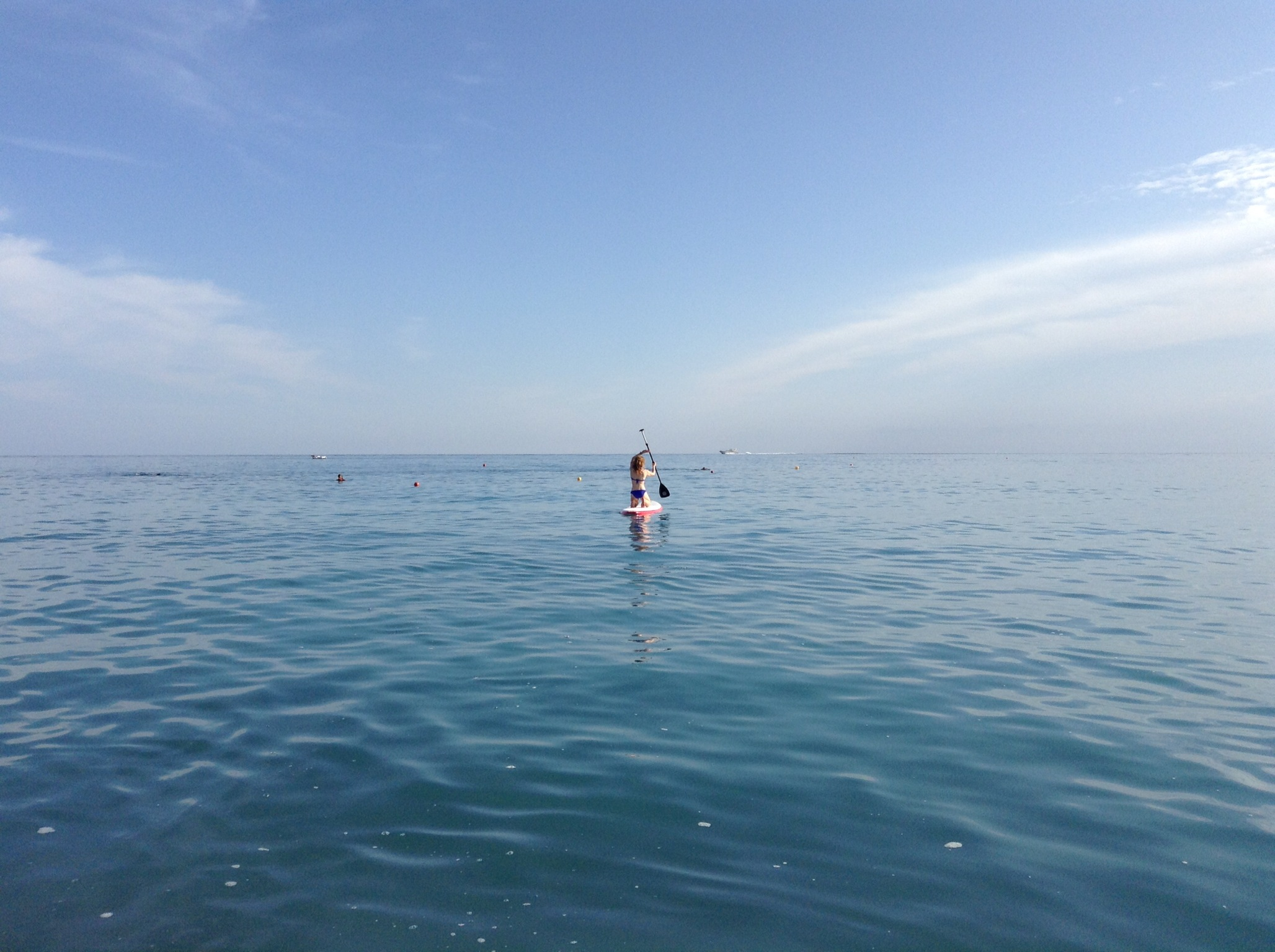 Paddle Boaring on the Mediterranean