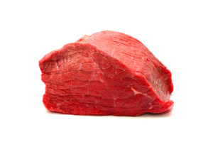 Fresh Raw low fat Beef Meat. Isolatet on White Background