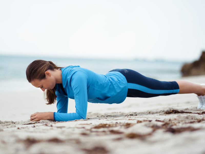 plank on beach