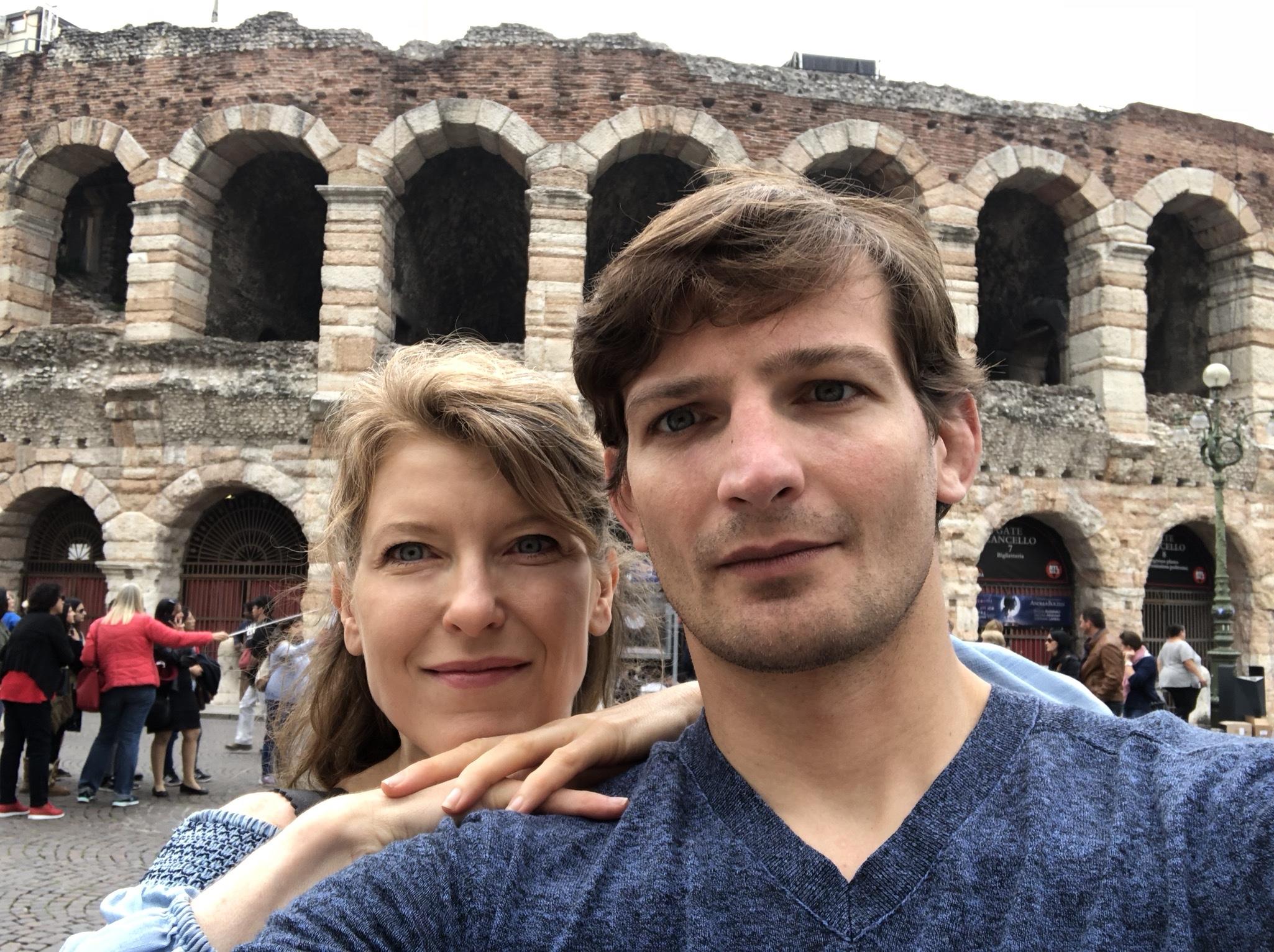 Verona Italy with My Romeo