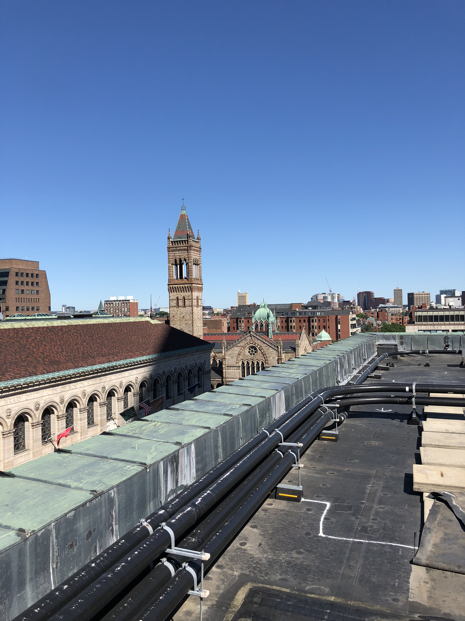 Views from the Rooftop Gym, Fairmont Boston