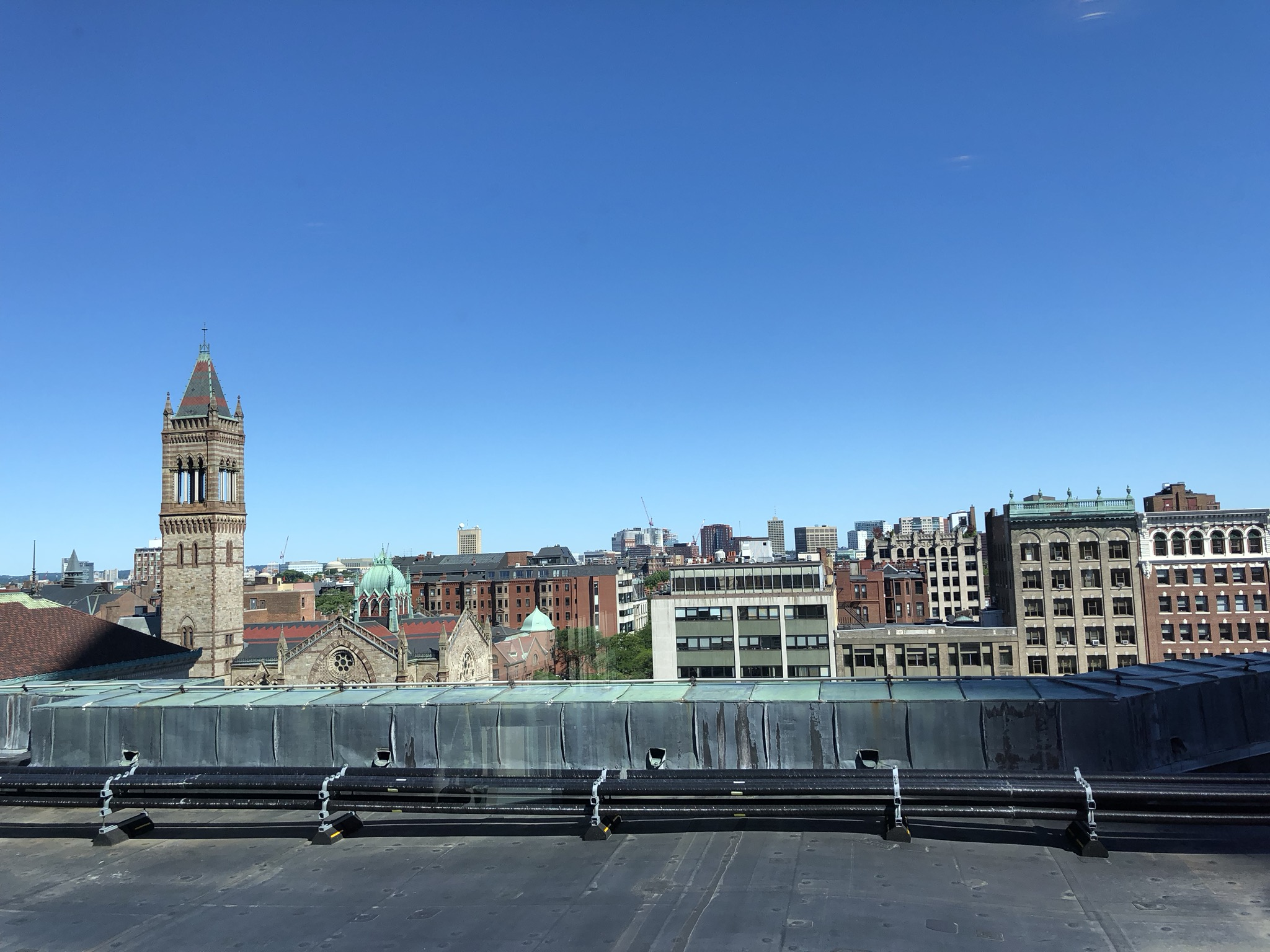 Views from the Rooftop Gym, Fairmont Boston 2